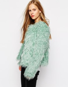 Vila Shaggy Faux Fur Jacket