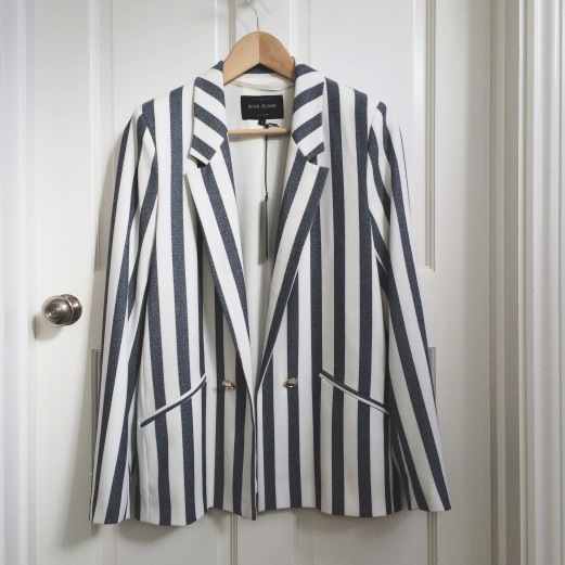 River Island Striped Relaxed Blazer